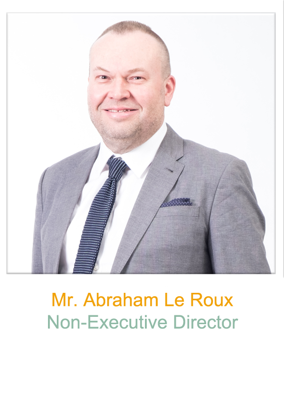 Non-Executive Director, Mr Abraham Le Roux