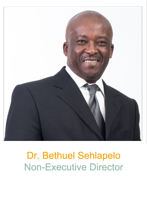 Non-Executive Director, Dr Bethuel Sehlapelo