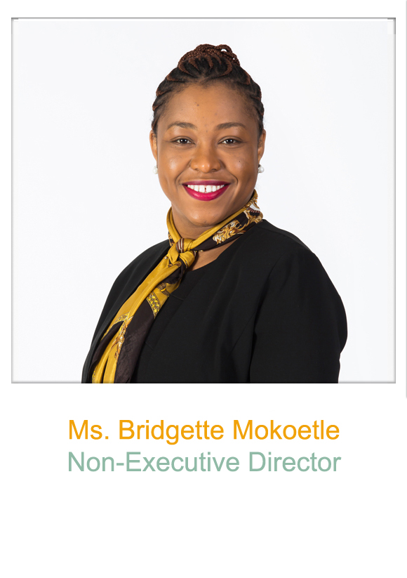 Non-Executive Director, Ms Bridgette Mokoetle
